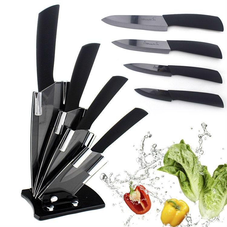 6pcs 100 new 3 4 5 6 peeler knives holder ceramic for Kitchen tool 6pcs set