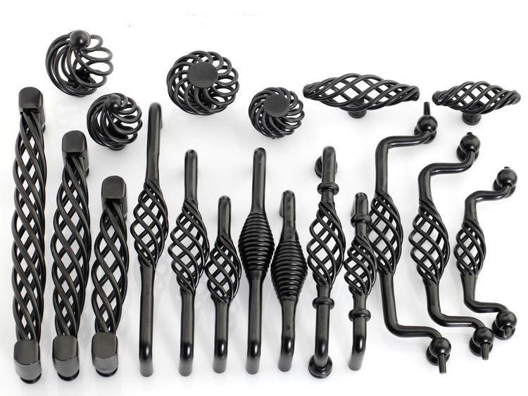 20Pcs New modern design black bird cage drawer pull handle Cabinet ...