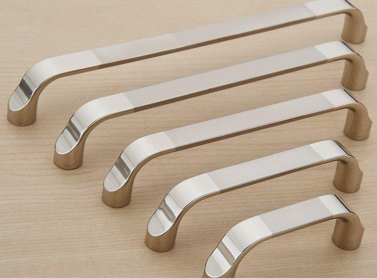 Modern double color cabinet drawer pull shoe cabinet door handle and closet door knob c c 64mm - Contemporary kitchen door handles ...