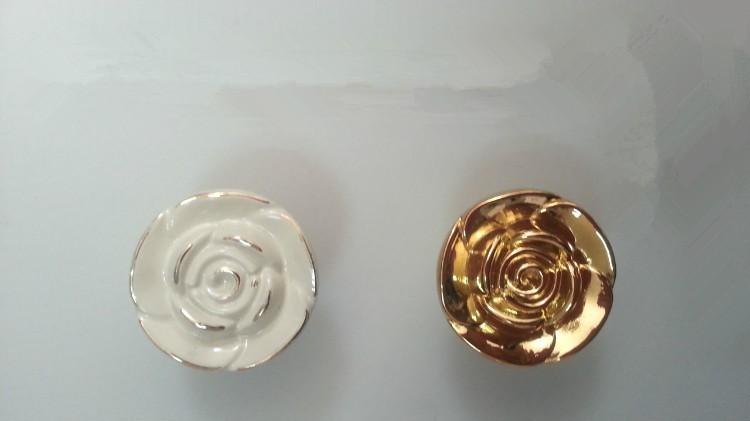 10pcs Golden Rose Zinc Alloy Cabinet Handles Kitchen Pulls Closet  Drawer Knobs Golden Drawer Pulls Cabinet Handle Wardrobe 88