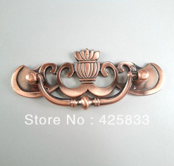 Hot Sale Furniture 64mm Red Antique Bronze ?Furniture Handles Kitchen  Cabinets Handle Door Knobs Kitchen