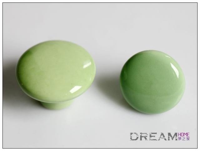 AP38CL 38mm Diameter Large Round Green Ceramic Knob For Drawer/cupboard/ Cabinet/wardrobe