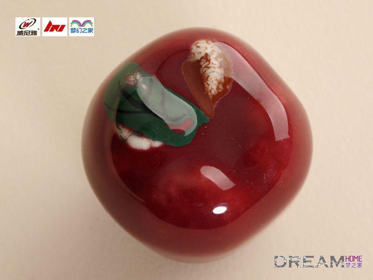 Single Hole Red Apple Fruit Cartoon Ceramic Knobs For Drawer/wardrobe/shoe  Cabinet