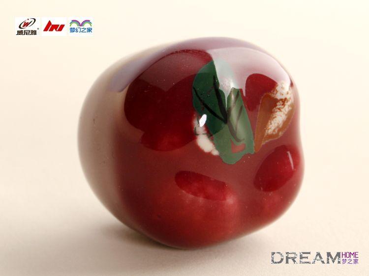 single hole red apple Fruit cartoon ceramic knobs for ...