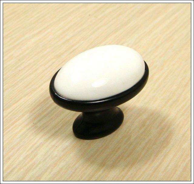 Decorative design black ceramic zinc alloy kitchen cabinet for Painted ceramic cabinet knobs
