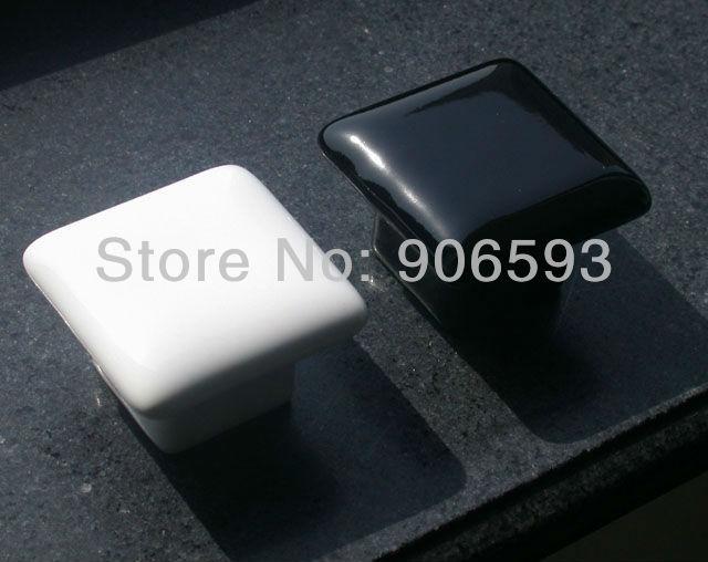 24pcs Lot Free Shipping Porcelain Black Glaze Square