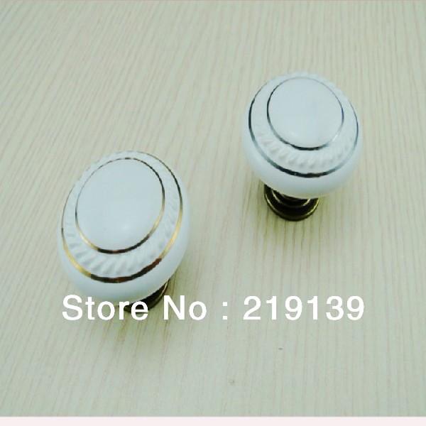 free shipping ceramic bedroom furniture kitchen door cabinet pulls drawer porcelain white knobs handles