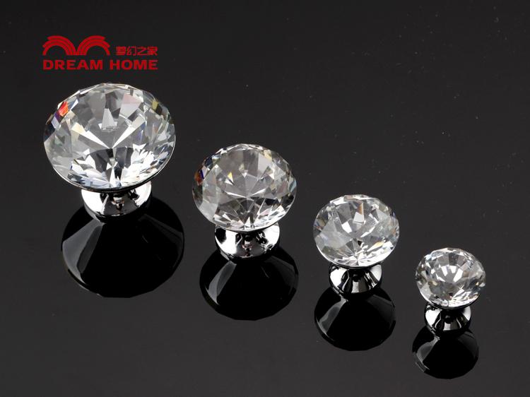 7176 20 20mm Diameter White K9 Diamond Crystal Knobs For Drawer/cupboard