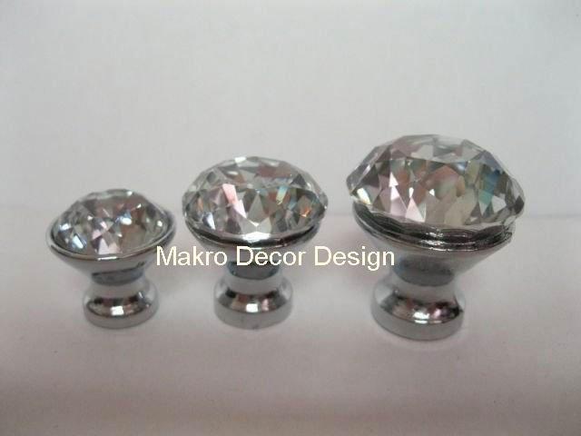 Great Sparkling Diamond Crystal Cabinet Knob\\20pcs Lot Free Shipping\\30mm\\