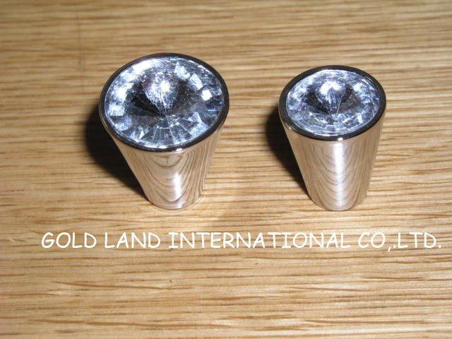 D20xh22mm Free Shipping Zinc Alloy Crystal Glass Drawer Knob Bedroom Furniture Knob A L