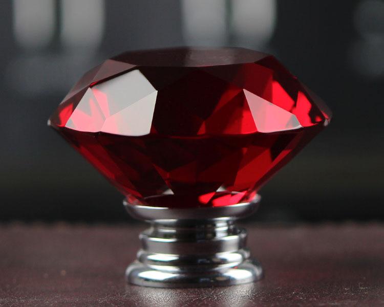 NEW Free Shipping 10X40mm Clear Crystal Diamond Cabinet Knob Drawer Pull  Handle Kitchen Door Wardrobe Hardware