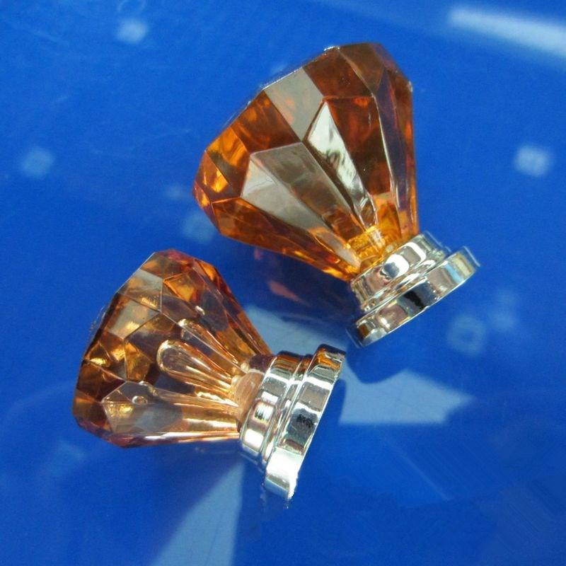 10pcs 32mm Pink Glass Acrylic Knobs Drawer Konbs Red Crystal Cheap Dresser  Porcelain Ball Pulls Kitchen