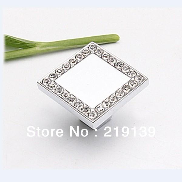 10PCS Crystal Zinc Alloy Furniture Kitchen Drawer Cabinet