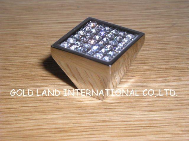 25mmx25mm Free Shipping Square Zinc Alloy Bedroom Cabinet Knob Furniture Knob A L Crystal