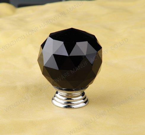 black glass cabinet pulls 2