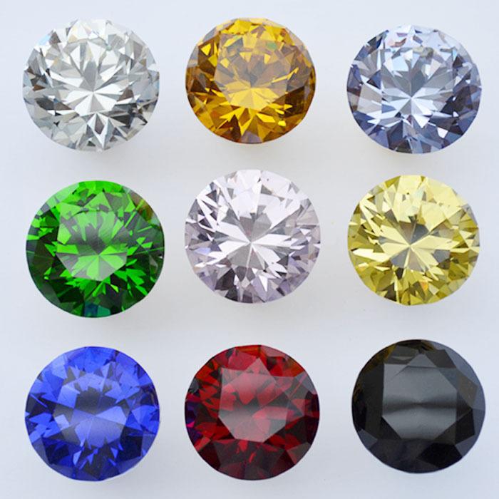 K9 Crystal Glass Handle Knob Drawer Cabinet Door New (D:30mm,Yellow ...