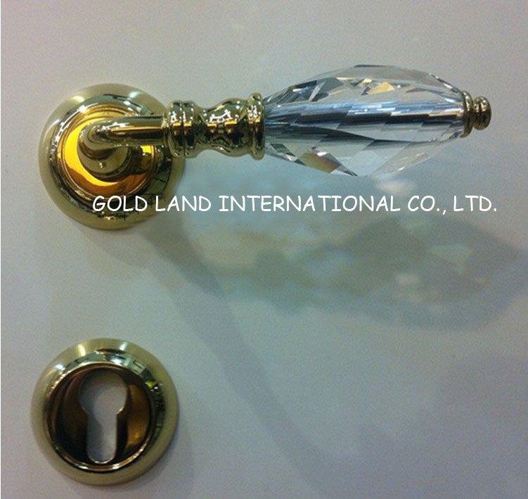 Charming 72mm Free Shipping 2pcs Handles With Lock Body+keys Crystal Glass Door Locks  Living Room