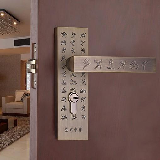 Door lockGreen bronze Door Knobs Door Locks Cabinet Hardware