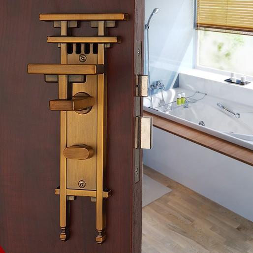 Door lockYellow bronze Door Knobs Door Locks Cabinet Hardware