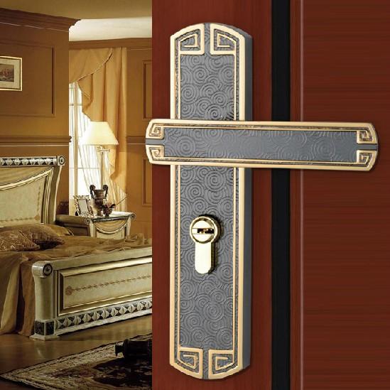 Chinese Antique Gold Black Brushed Nickel Door Lock Handle Door Levers Out  Door Furniture Door Handle