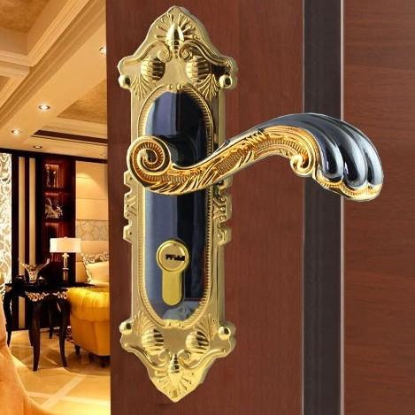 Free Shipping 2 Pcs Lot Antique Brass Room Door Bathroom Door All Kinds Of Wooden Door Lever