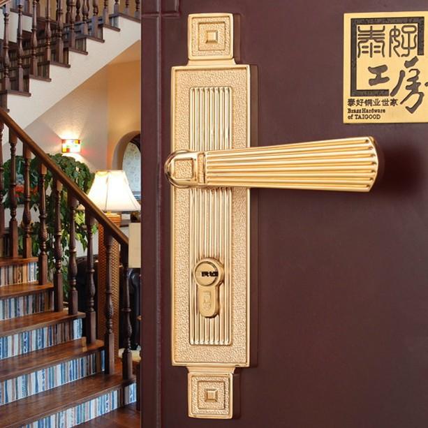 Modeled after an antique LOCK PVD Gold Door lock handle door levers out door furniture door & Chinese antique LOCK Gold ?Door lock handle door levers out door ... Pezcame.Com