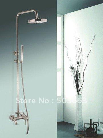 Antique Brass Rainfall 8 Round Shower Head Complete Faucet Shower Set Cm0611 Shower Faucet Set
