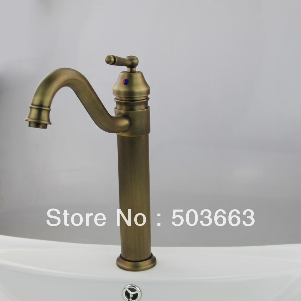 Antique Bronze Finished Basin Faucet Sink Faucet Single Lever Bathroom Mixer L 0161 Antique