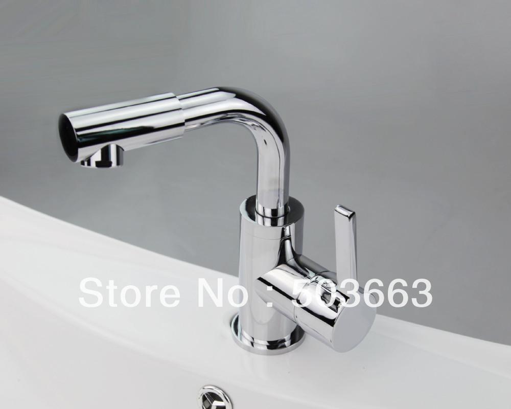 Bathroom Sink Brands : Brand New Chrome Finish Single Hole Bathroom Basin Sink Faucet Mixer ...