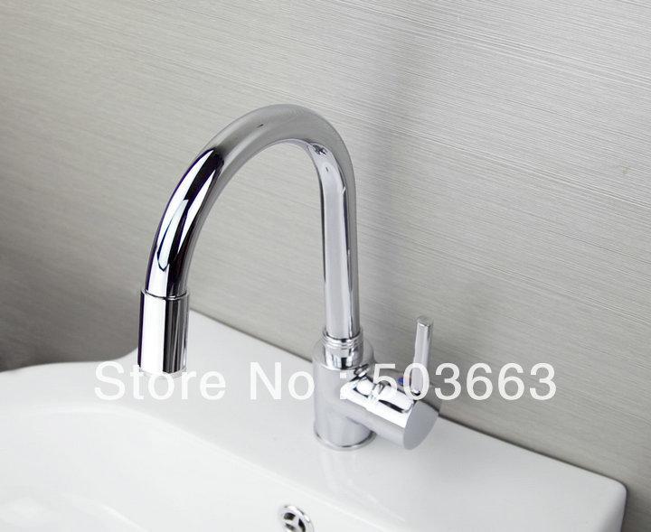 Bathroom Lavatory Vessel Sink Faucet Swivel: Brand New Chrome Kitchen Swivel Sink Faucet Vessel Mixer