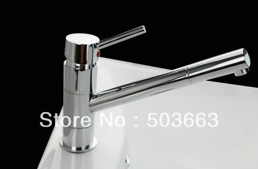 Chrome Pull Out Swivel Basin Faucet Bathroom Sink Mixer Tap Single Hole Sink Faucet Bath Faucet