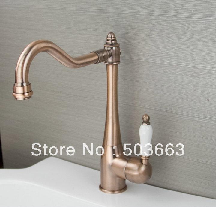 Contemporary Antique Copper Kitchen Swivel Sink Faucet Mixer Taps Vanity Faucet L A38 Antique