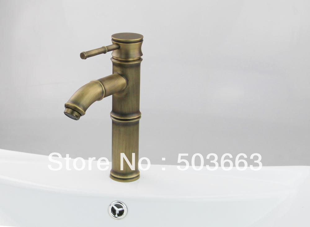 Durable Solid Brass Antique Brass Vessel Sink Faucet Mixer Basin Faucet Sink Tap Sink Faucet