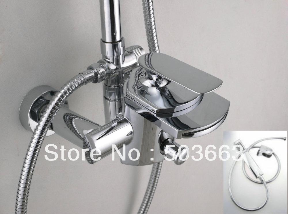Wall Mount Faucet Bathroom Vanity : Wall Mounted Bath Basin Mixer Tap Sink Faucet Vanity Faucet Bathroom ...