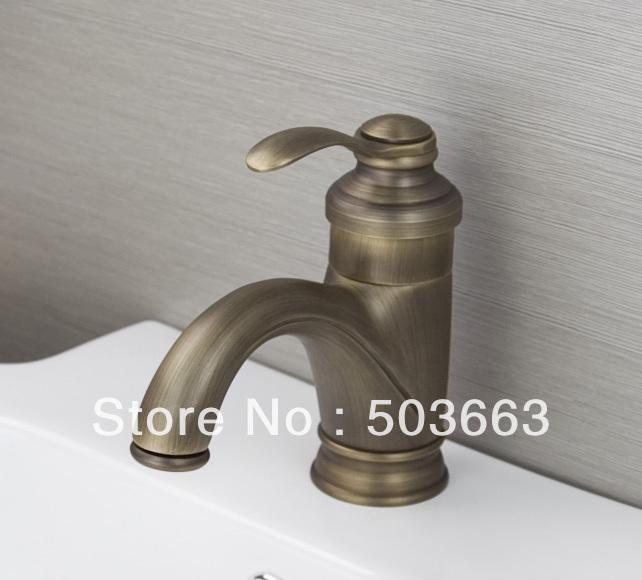 Wholesale 2013 Design Antique Brass Mixer Waterfall Faucet Bathroom Basin Mixer Sink Tap Basin
