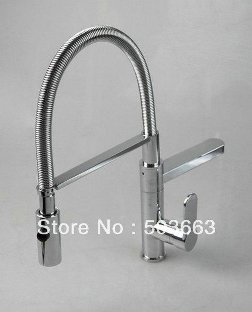 Kitchen Sink Faucet Pull Out Faucet Mixer Valve Single: Wholesale Swivel 2 Sinks Brass Kitchen Faucet Basin Sink
