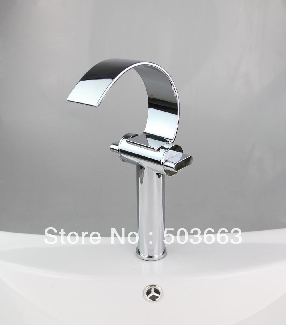 Chrome double handle deck mount bathroom faucet basin tap for Double bathroom sink basin