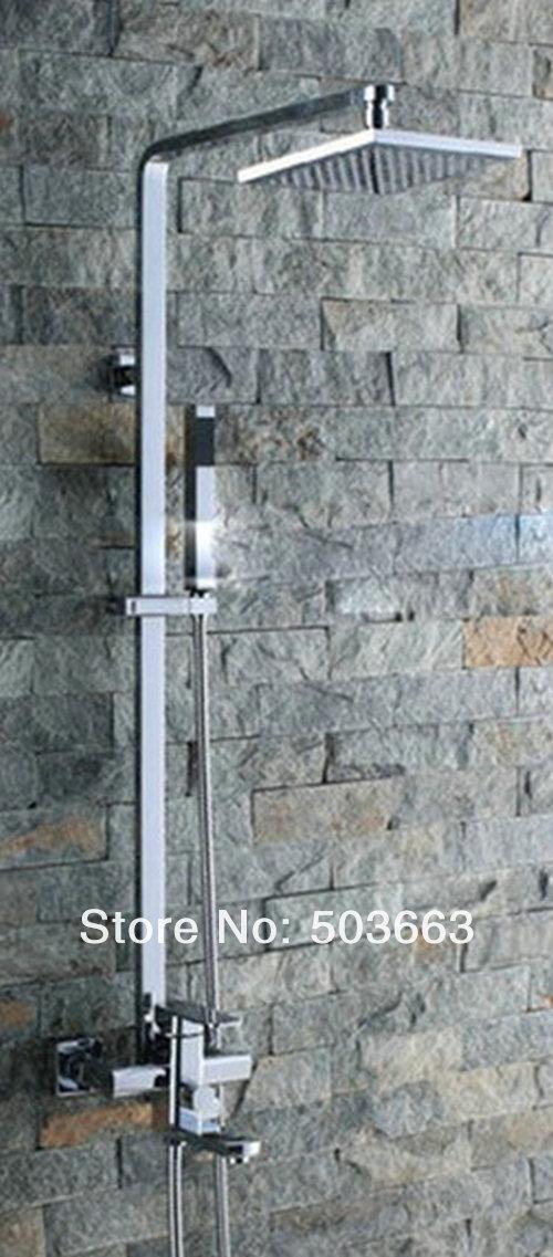 Wholesale Bathroom Luxury Chrome Rain Shower Head Arm Set