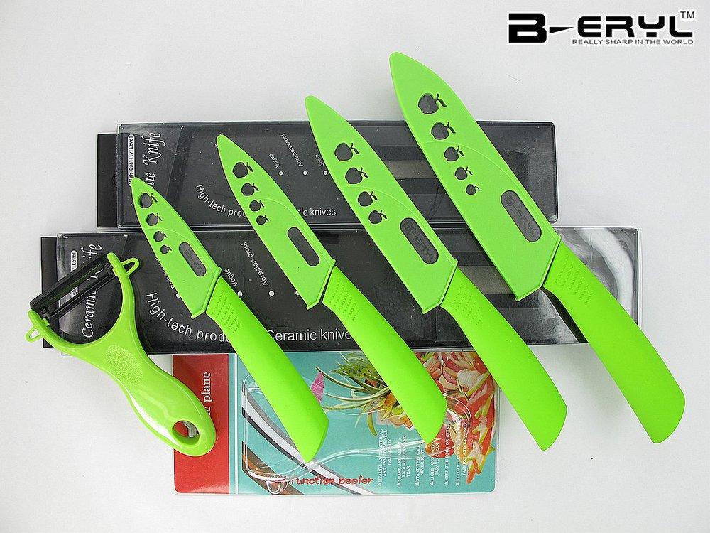 beryl 5pcs set , black ceramic knife set 3 4 5 6 kitchen knife+