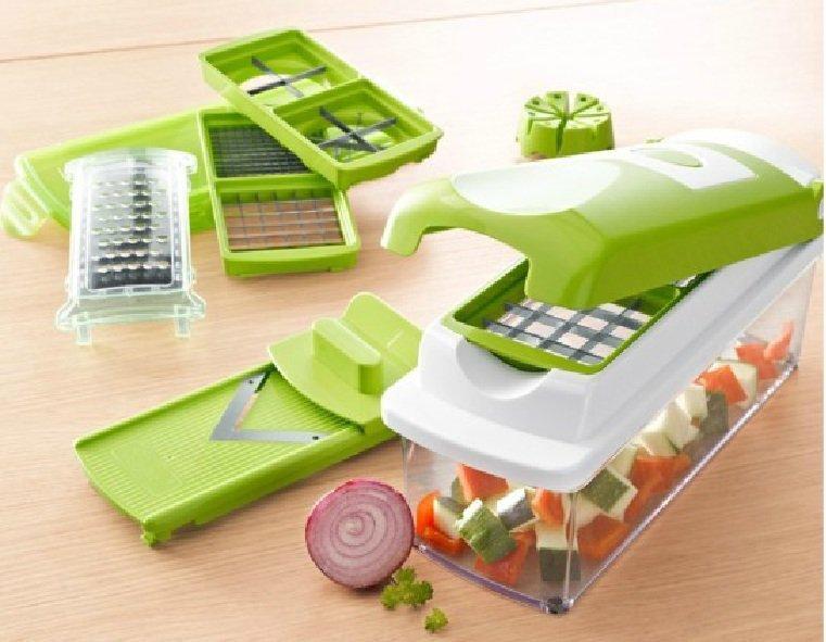 nicer dicer plus vegetables fruits dicer food slicer cutter containers chopper peelers set of 12. Black Bedroom Furniture Sets. Home Design Ideas