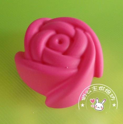 Promotion new soft silicone cake mold fondant decorating 7cm rose