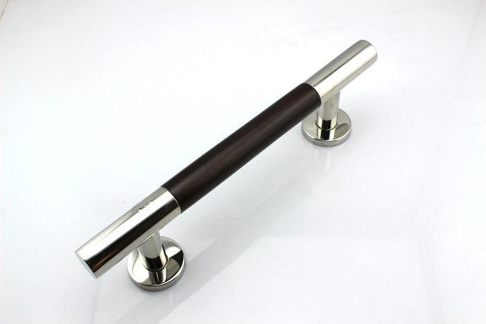 300mm 304 Stainless Steel Amp Walnut Glass Amp Wood Door Handles Furniture Dresser Chrome Silver