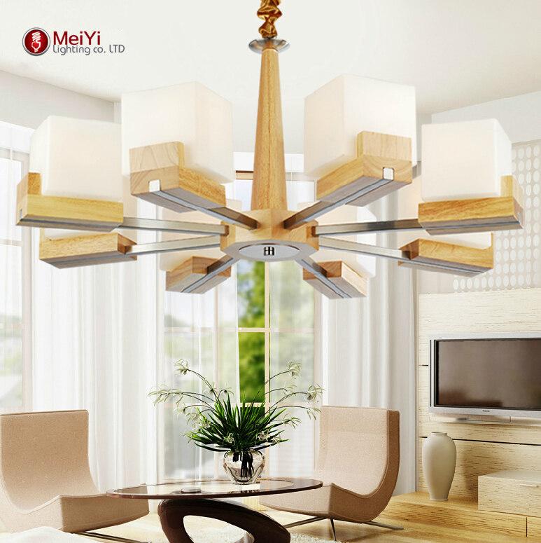2015 Cottage Style Wooden Chandeliers Home Lighting Lampadario Indoor Light Art Deco For Living Room