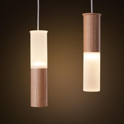 Creative wood acrylic bar pendant light spiral wood pendant light dinning room hanging bar lamps - Creative hanging lights ...