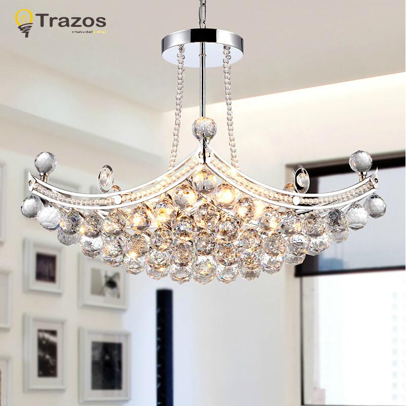 luxury crystal pendant lights led creative design living room lamp lustre de cristal modernos. Black Bedroom Furniture Sets. Home Design Ideas