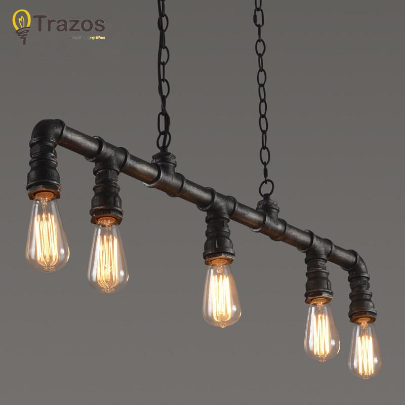 Retro Edison Bar Dining Room Ktv Lighting Vintage Pendant Lights Water Pipe Lamp