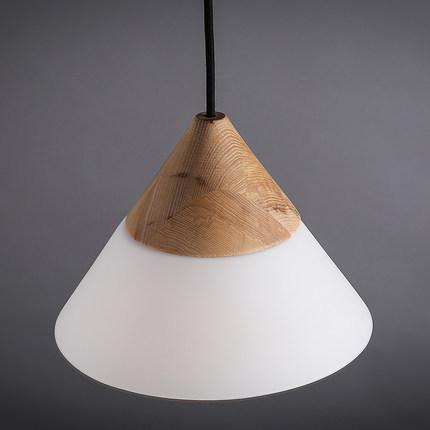 scandinavian pendant lights oak+glass+iron dinning room pendant