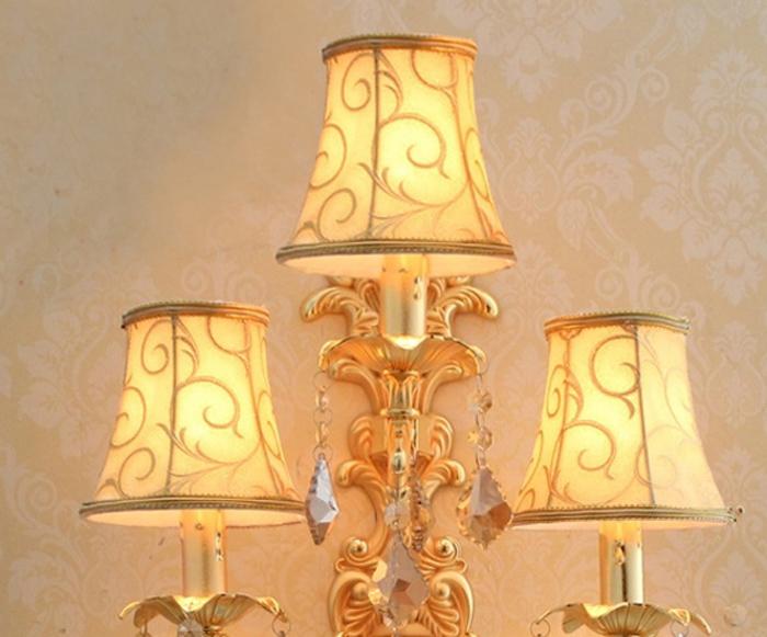Wall Light Lamp Shades Fabric : wireless wall mounted modern crystal wall lamp crystal wall light fabric shade wall light led ...