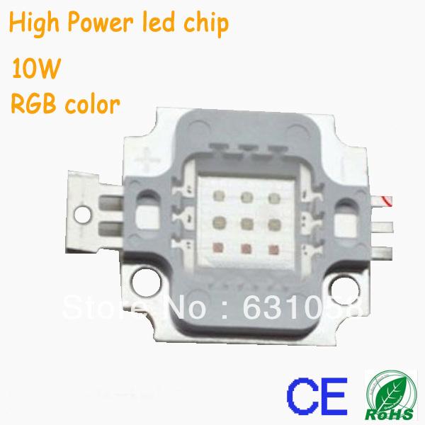 4pcs lot rgb led bead 10w rgb high power led chip epistar. Black Bedroom Furniture Sets. Home Design Ideas