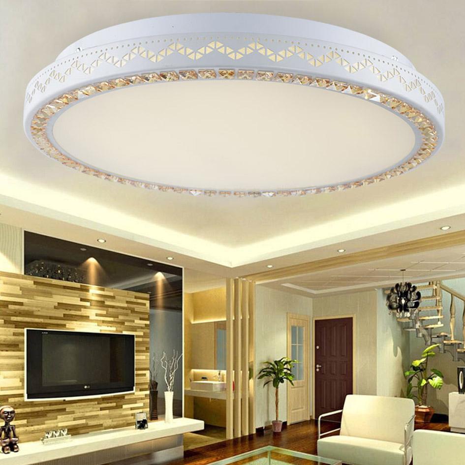 90~265v 36/60w led flush mount modern acrylic ceiling light for